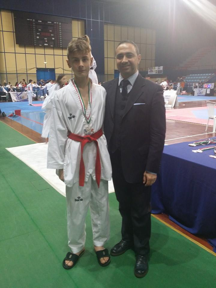 Riccardo con il Presidente Regionale Martino Montanaro