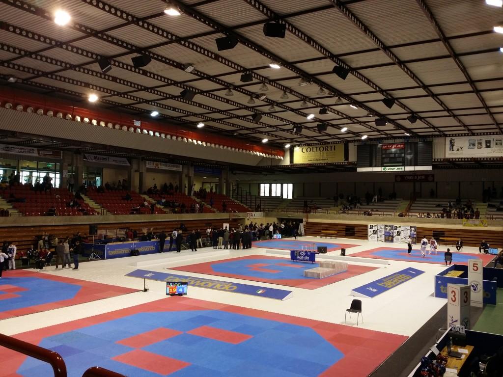 Un arena bellissima per un campionato italiano cadetti a come i grandi!!!