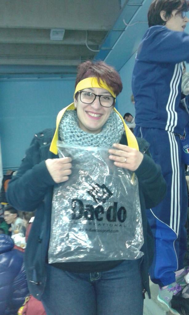 Una delle nostre fan Anna mamma di Danilo ...la rivelazione di questa trasferta...anche danilo ha trovato la sua strada :-)