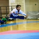 Specialità Taekwondo Free style con la musica. Marco Cavaniglia in azione