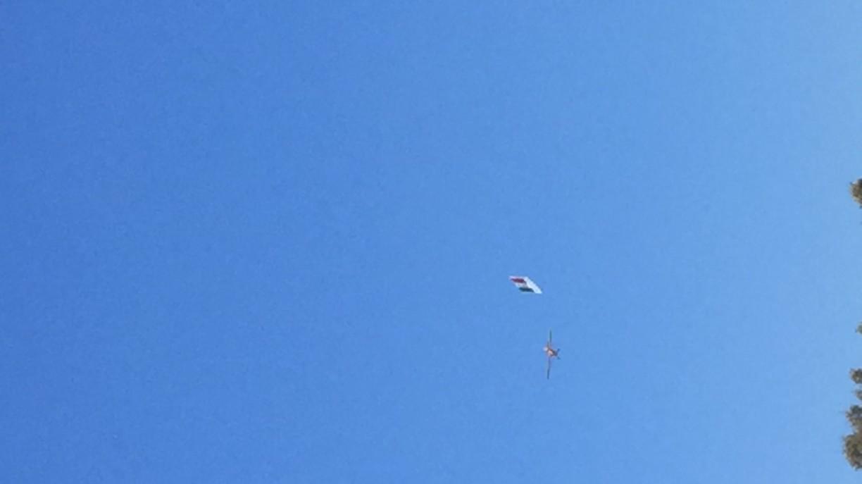 Poco dopo saputa la notizia...per caso passa un aereo con la bandiera ITALIA... sono i sogni a dare forma al mondo disse qualcuno...:-)