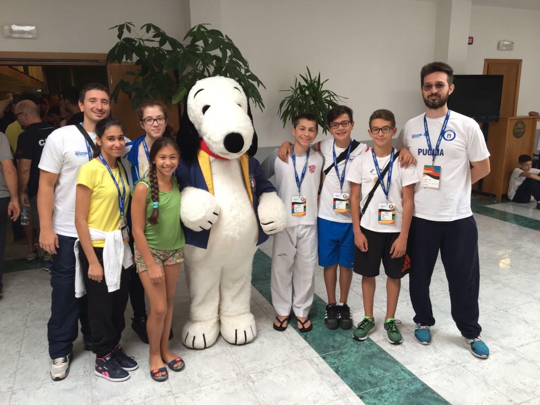 Con la mascotte insieme alla squadra del Lazio :-)