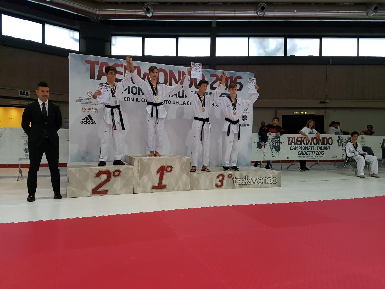 Riccardo terzo classificato sul podio :-)