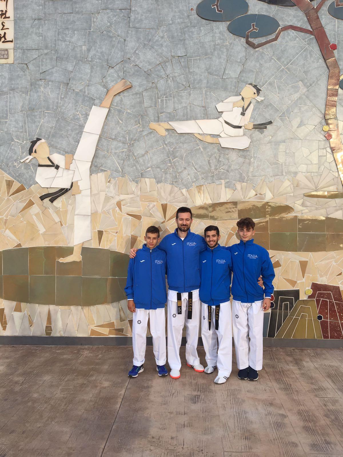 Inizia con il botto l'anno sportivo per Taekwondo Mansé viaggio inaspettato in Corea per Marco, Gabriele Giovanni e Vito.